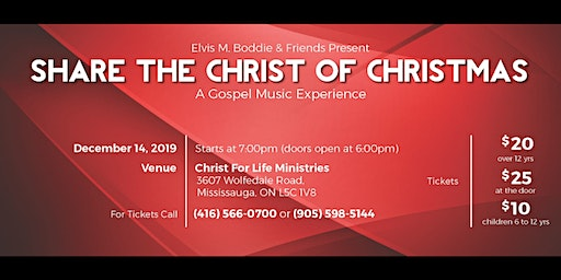 Elvis M. Boddie Presents: Share the Christ of Christmas