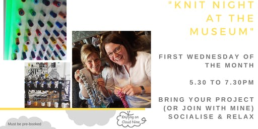 """Knit & Natter Evenings in Paisley - """"Knit Night at the Museum"""""""