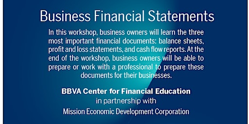 Business Financial Statements with BBVA Center for Financial Education