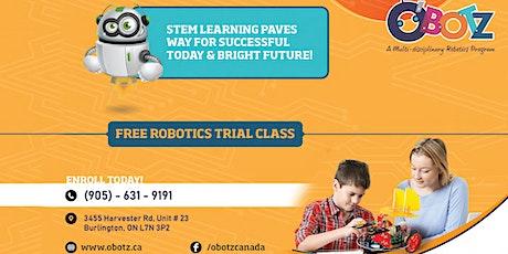 Free Robotics Trial Class tickets