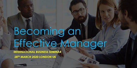 International Business Seminar (Becoming an Effective Manager) tickets