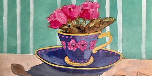 Tea Cup Painting Afternoon Tea with Mom - Art Painting, Drink & Food