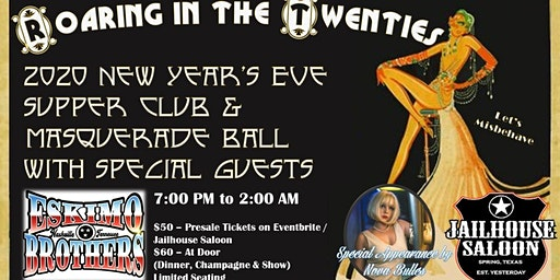 Roaring 20's New Years Eve Supper Club and Masquerade Ball