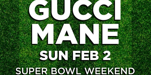 GUCCI MANE @ THE #1 LAS VEGAS HIP-HOP CLUB - DRAIS - SUPER BOWL SUNDAY