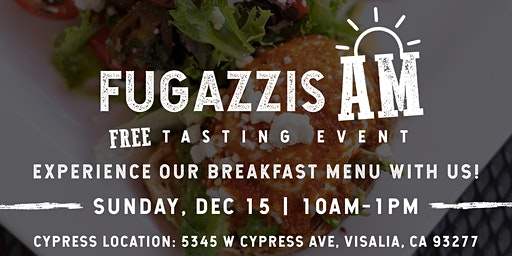 Breakfast @ Fugazzis Tasting Event