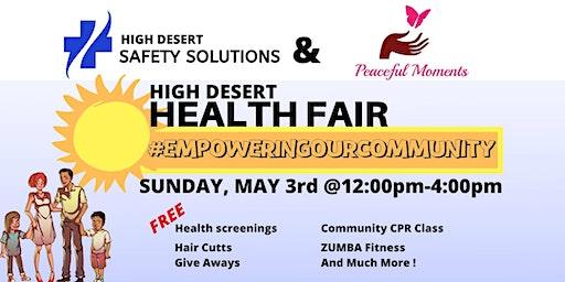 "High Desert Community Health Fair-""Empowering our Community""2020"