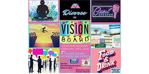 """DiverseLuxe Presents """"A VISION BOARD NETWORKING EVENT"""""""
