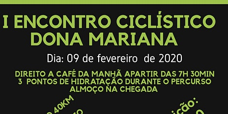 I Encontro Ciclístico Dona Mariana ingressos