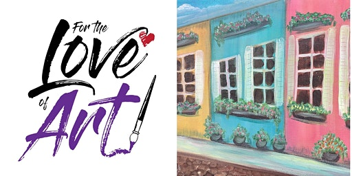 Paint and Sip Class: Charleston Sidewalk