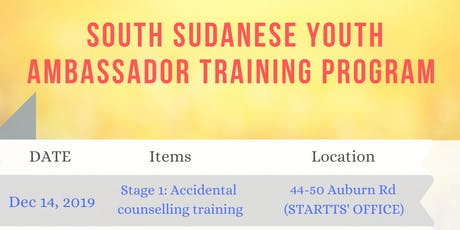 South Sudanese Youth Ambassador Training tickets