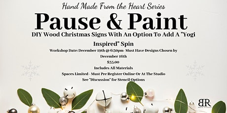 Pause and Paint - Christmas Signs tickets
