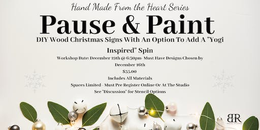 Pause and Paint - Christmas Signs