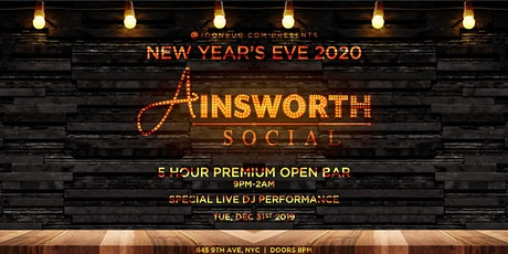 Ainsworth Social New Years Eve Party 2020 tickets