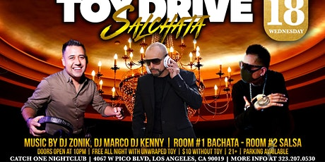 Toy drive Salchata Social tickets