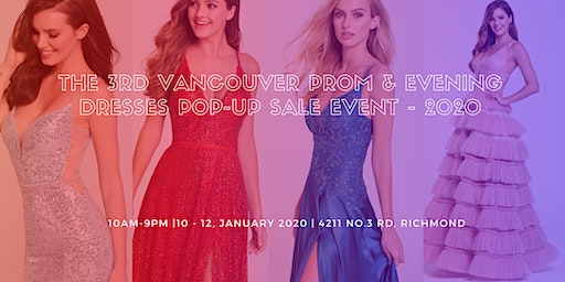 The Third Vancouver Prom & Evening Dresses Pop-up Sale Event - 2020