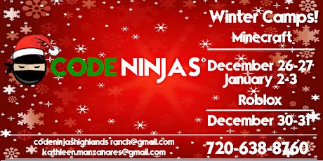Code Ninjas Holiday Camps! tickets