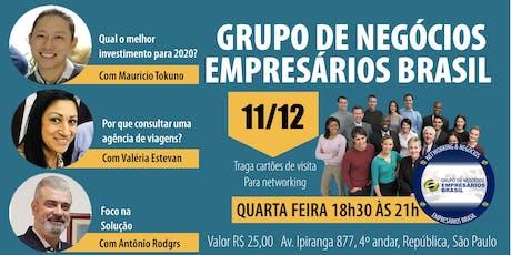 11-12 Reunião do grupo de negócios- Empresários Brasil   ingressos