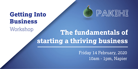 Pakihi Workshop: Getting Into Business - Napier tickets