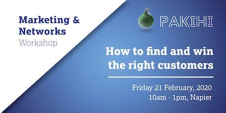 Pakihi Workshop: Marketing & Networks - Napier tickets