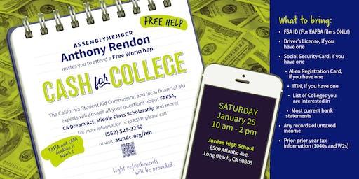 Cash for College Workshop