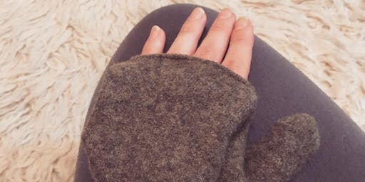 Upcycled Glittens: Fingerless Gloves workshop at Ragfinery
