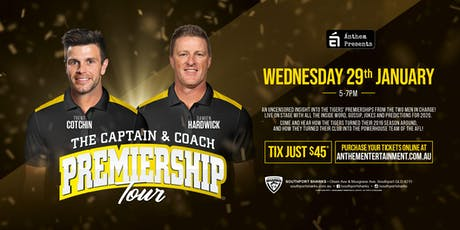 The Captain & Coach Premiership Tour LIVE at The Southport Sharks! tickets