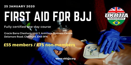First Aid for BJJ - one day certified course tickets