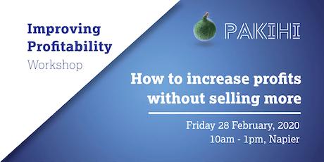 Pakihi Workshop: Improving Profitability - Napier tickets