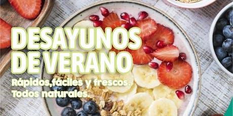 """TALLER GRATUITO """" Desayunos de Verano """" - entradas"""