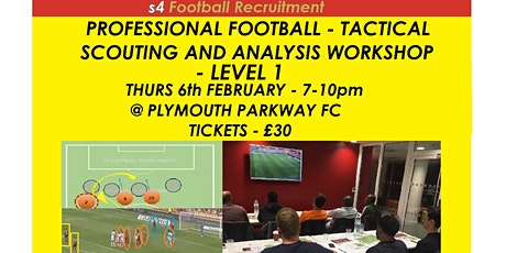 PROFESSIONAL FOOTBALL TACTICAL SCOUTING AND ANALYSIS WORKSHOP tickets