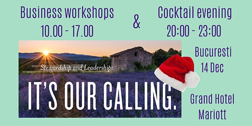 Stewardship & Leadership is our calling: workshops day & cocktail evening