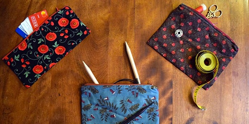 CLASS FULL - Zippers 101: Pouches workshop at Ragfinery