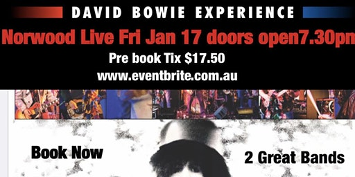 Ashes To Ashes  David Bowie Experience & T.REX oz Dirty Sweet Bolan Boogie
