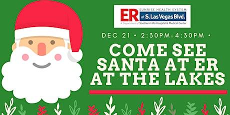 Free photo with Santa  at ER at the Lakes tickets
