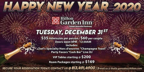 New Year's Eve Celebration @ Hilton Garden Inn Tampa Suncoast Parkway tickets