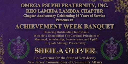Rho Lambda Lambda's Achievement Week/Chapter Anniversary Banquet 2020
