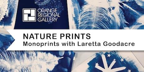 NATURE PRINTS – Monoprint with Laretta Goodacre  tickets