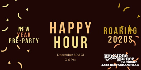 Roaring 2020s New Year Pre-Party Happy Hour tickets