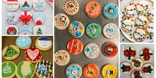 HOLIDAY COOKIE DECORATING -No Experience Needed ! (6 jumbo cookies)
