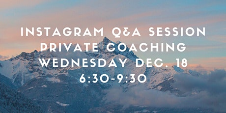 Instagram Live Q & A tickets