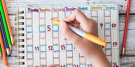 Hello Holidays: Back to school calendar planner tickets