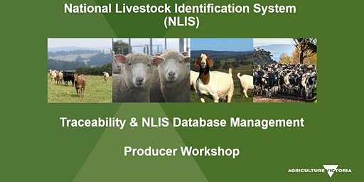 NLIS Database Practical Workshop - Ellinbank