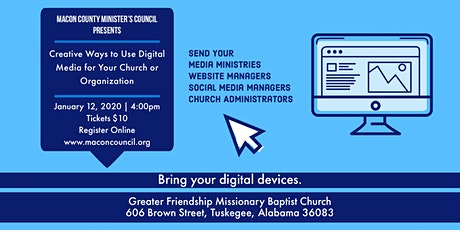 Creative Ways to Use Digital Media Workshop tickets