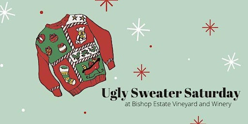 Ugly Sweater Day at Bishop Estate:  Red Angel Duo Live & Two Street Sammies