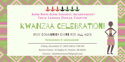 Alpha Kappa Alpha Sorority, Inc. - Theta Lambda Omega: Kwanzaa Celebration!