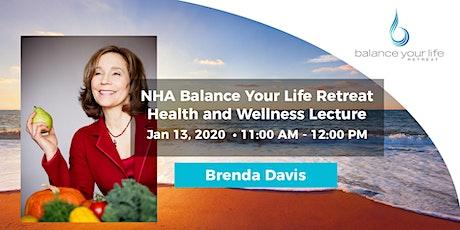 Brenda Davis Health and Wellness Lecture tickets