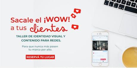 Sacale el ¡Wow! a tus clientes: Taller de identidad visual y contenido para Instagram. entradas