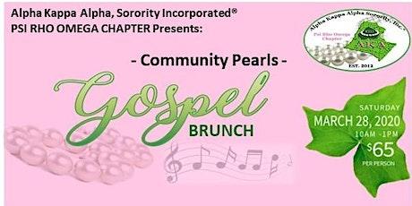 2020 Community Pearls Gospel Brunch tickets