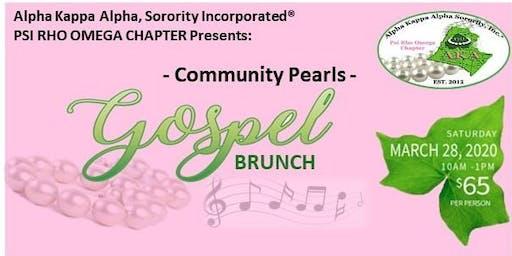2020 Community Pearls Gospel Brunch
