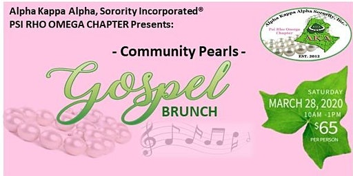 2020 Community Pearls Gospel Brunch